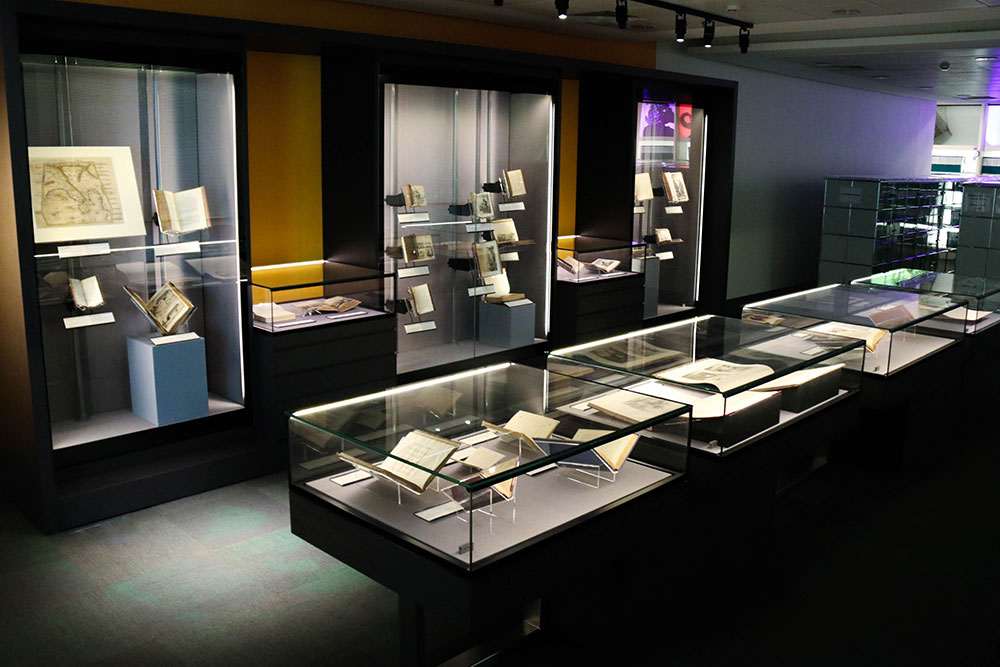A photo showing an overview of the Rare Collection Gallery.