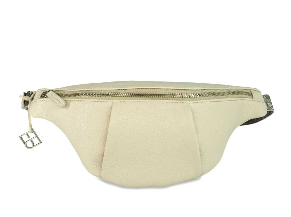 Leo Hip Bag - off-white/grey