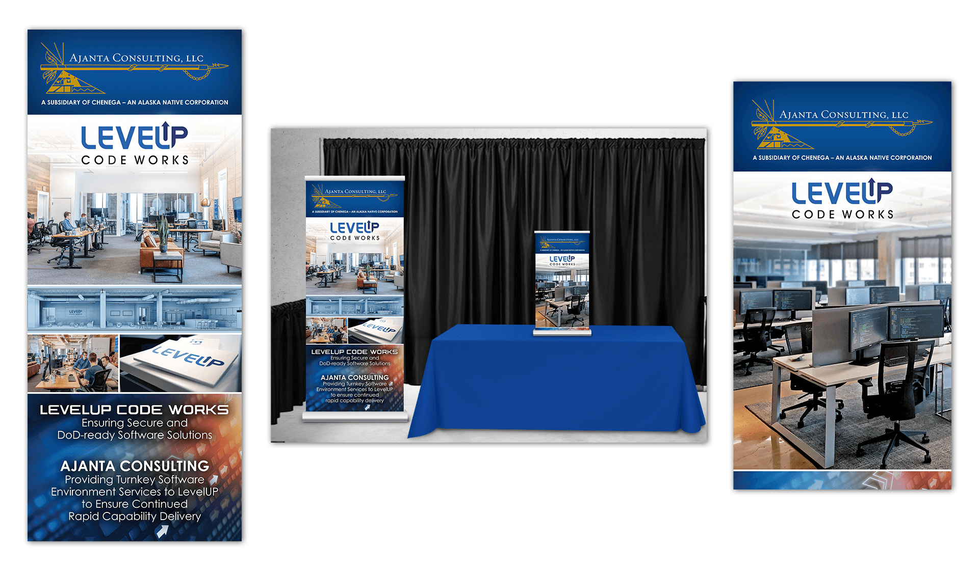 LevelUp Trade Show Graphics