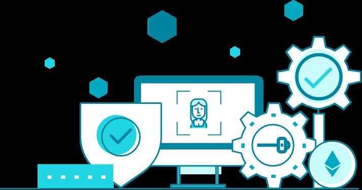 blockchains digital identity illustration