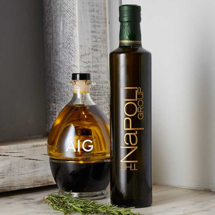 Corporate Promotional Custom Etched Olive Oil and Vinegar bottles