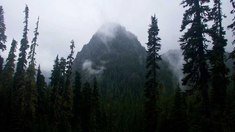 Low clouds over Guye Peak