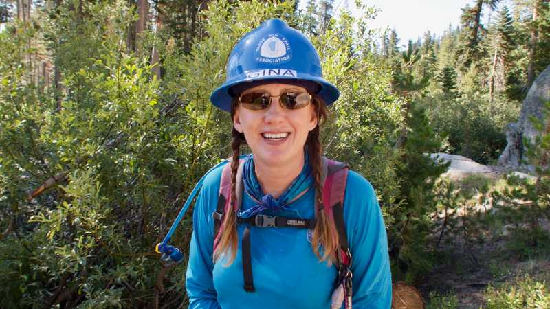 PCT trail worker Gina