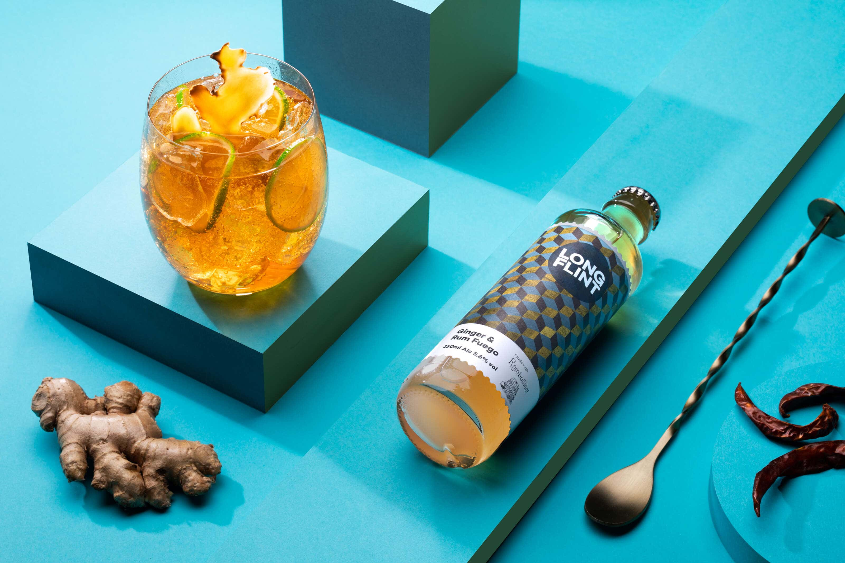 long-flint-rum-and-fuego-cocktail-in-a-pop-art-style
