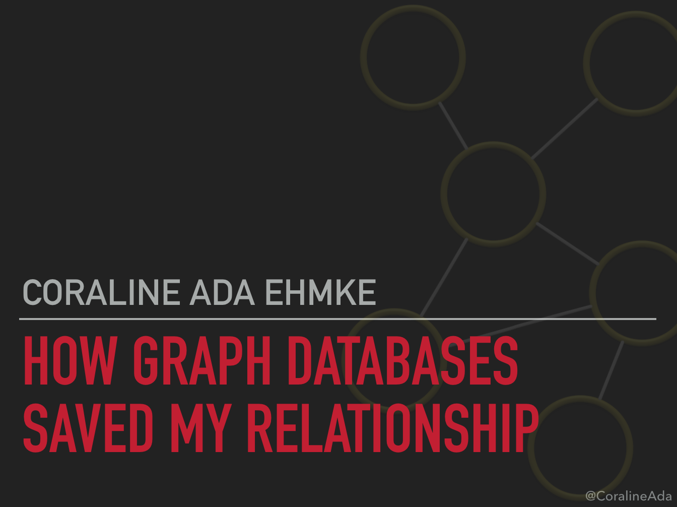 How Graph Databases Saved My Relationship