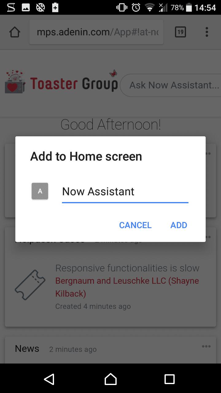 Enter the shortcut name