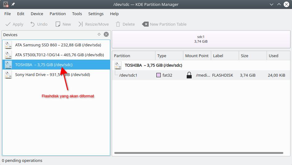 KDE Partition Manager