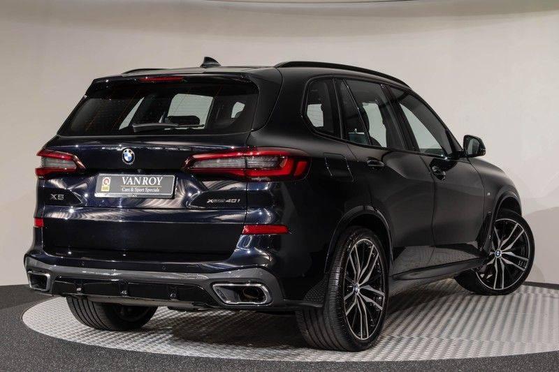 "BMW X5 M40i xDrive 340pk Panoramadak VirtualCockpit ShadowLine Sportleder+Memory Head-Up Hifi Luchtvering ACC Laserlicht AmbientLight Keyless Sportuitlaat 22"" 360Camera ParkAssist Pdc afbeelding 12"