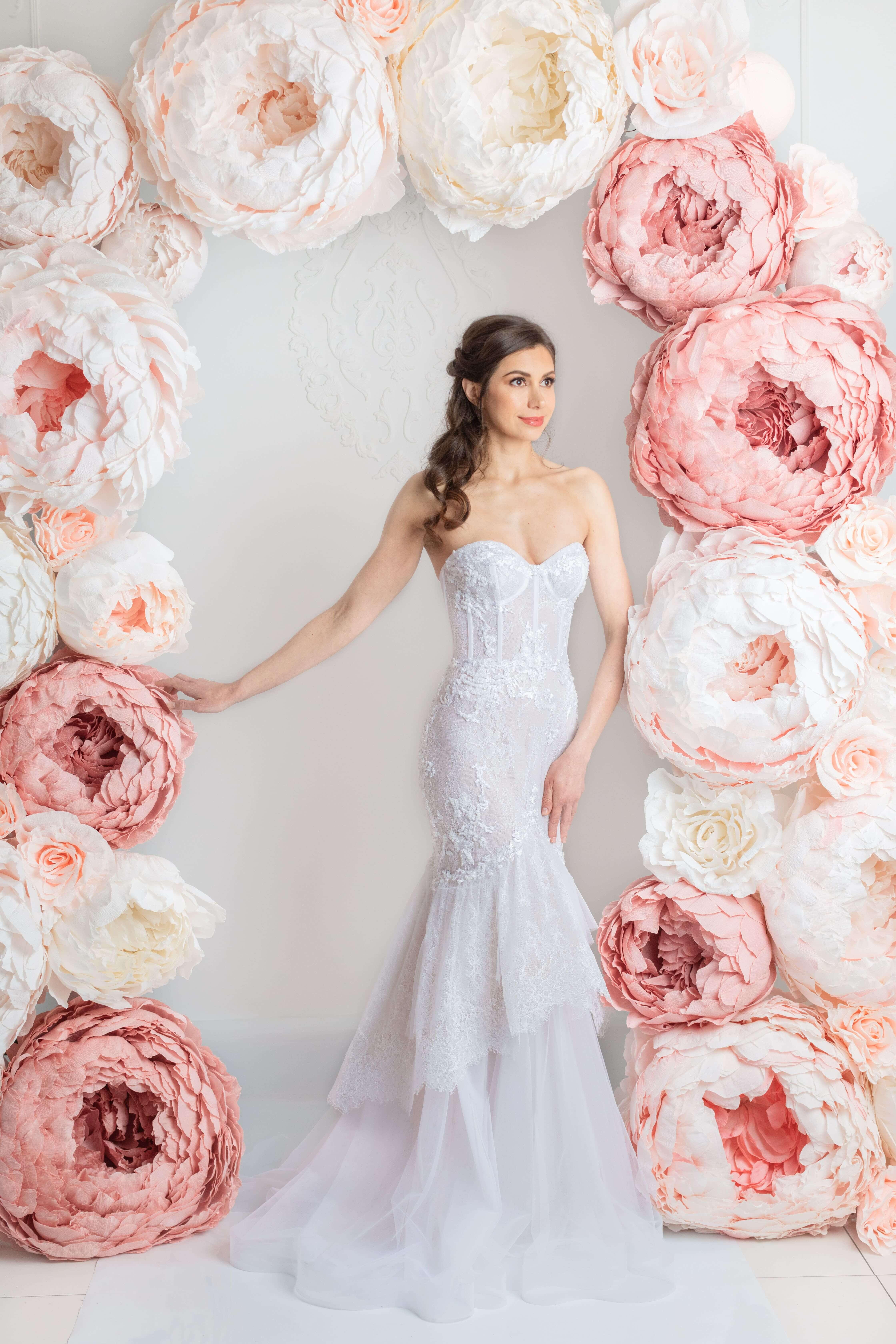 blush pink wedding dress montreal best wedding dress boutique lilia haute couture