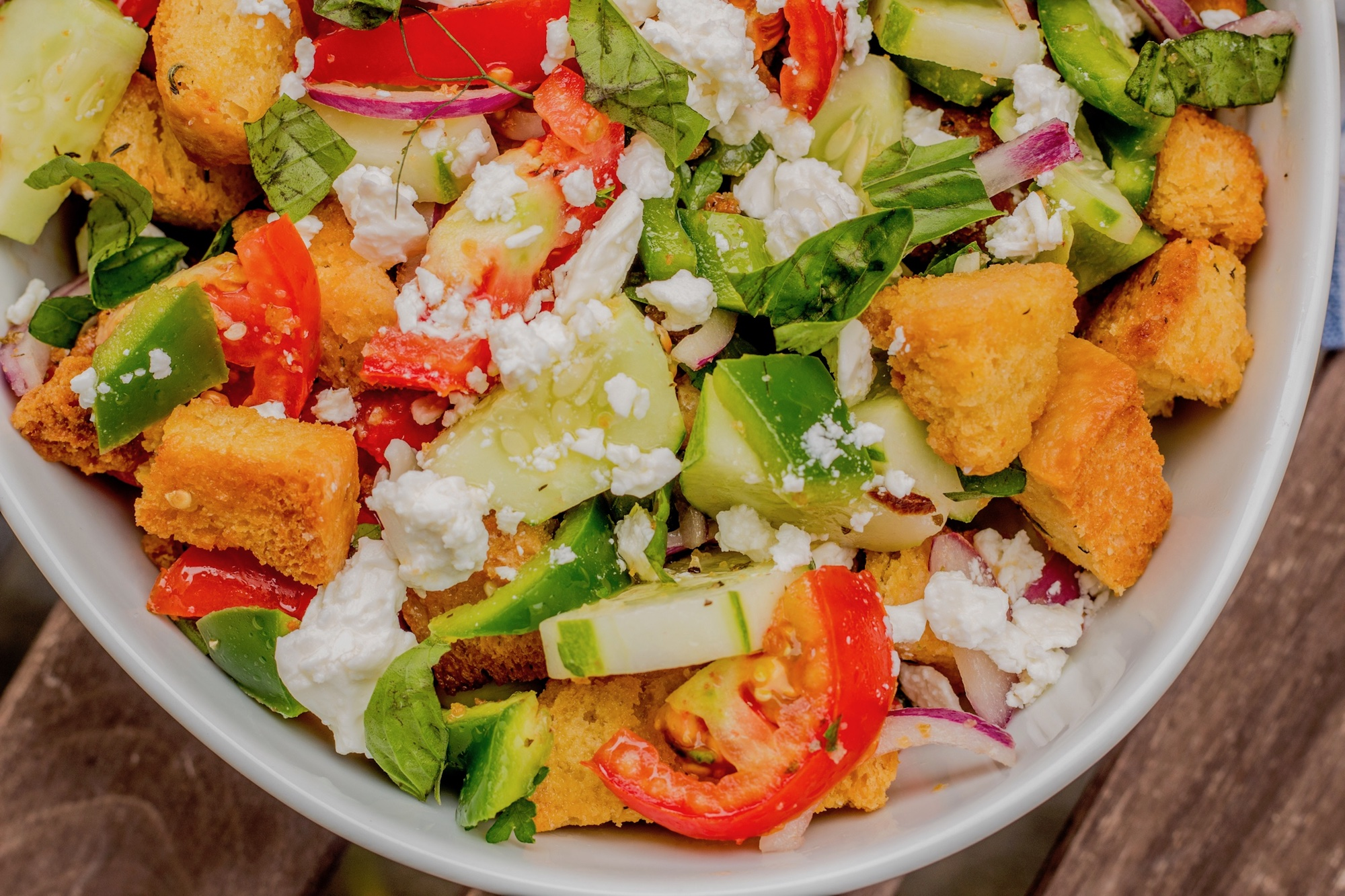 Horiatiki Panzanella Salad
