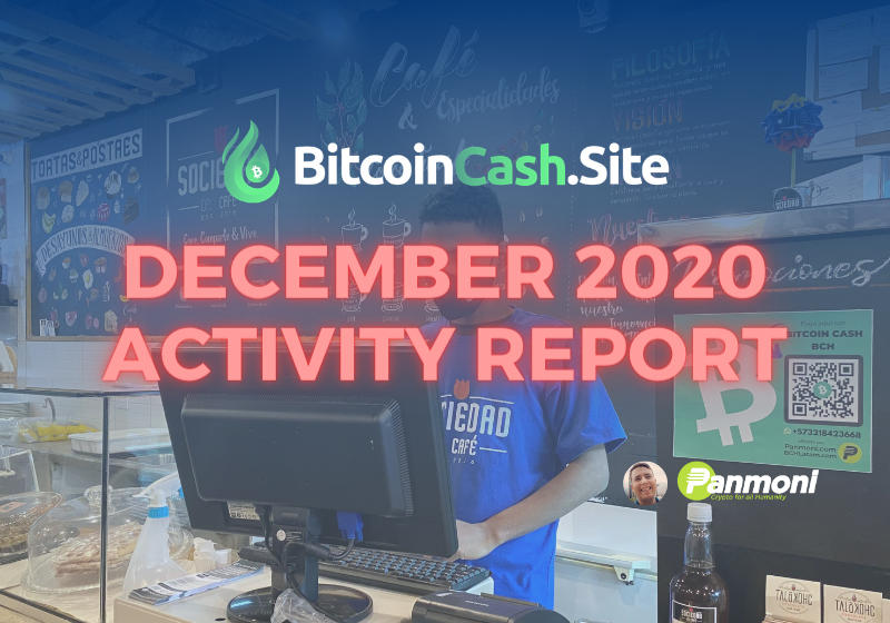BitcoinCash.Site Dec 2020 Activity Report