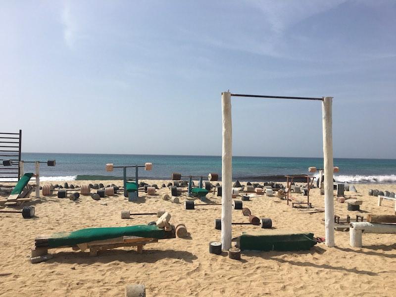 Beach gym in Santa Maria, Praia
