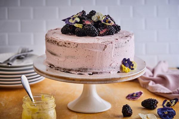Lemon Blackberry Gluten Free Almond Flour Layer Cake