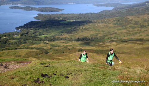 Near the top of Conic Hill