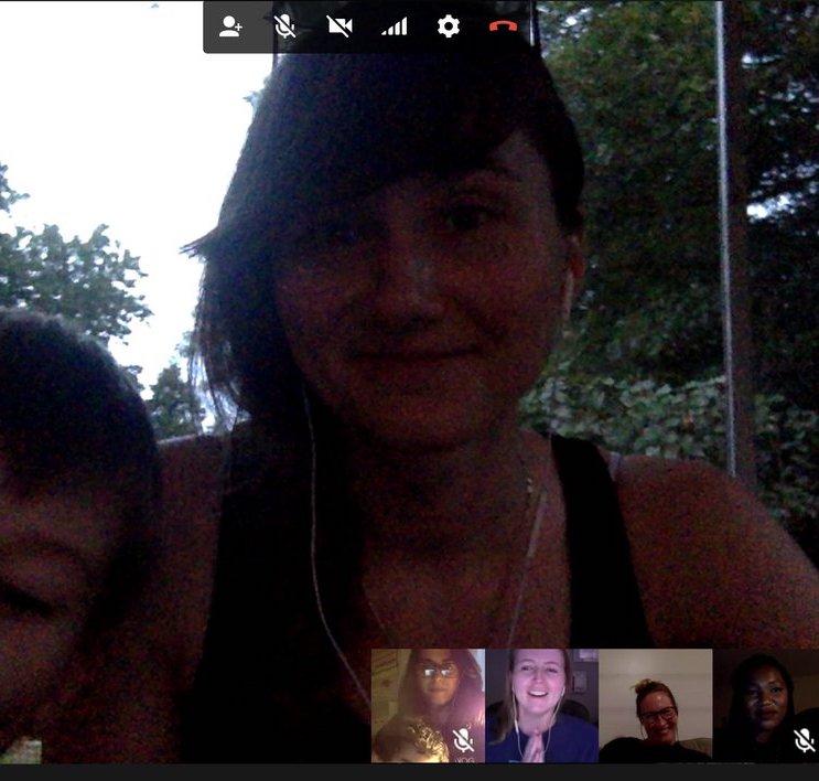 Screenshot of Ela Conf organizer video call