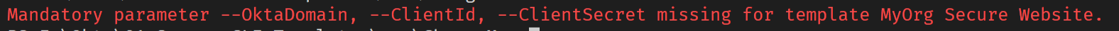 Command line error