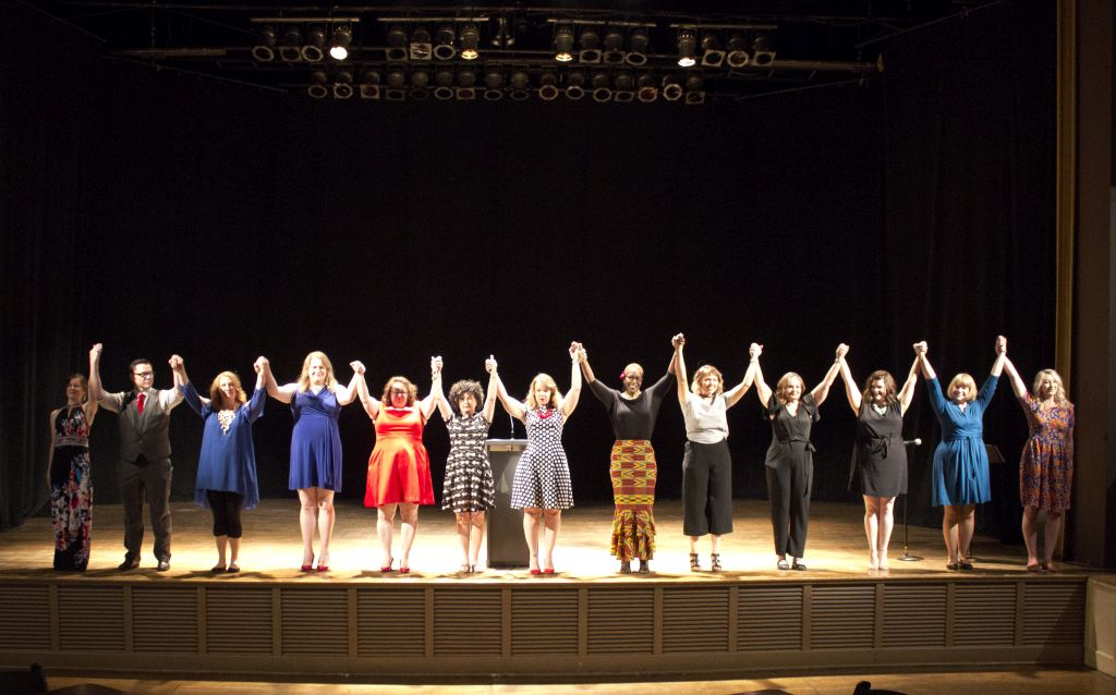 The curtain call after the show