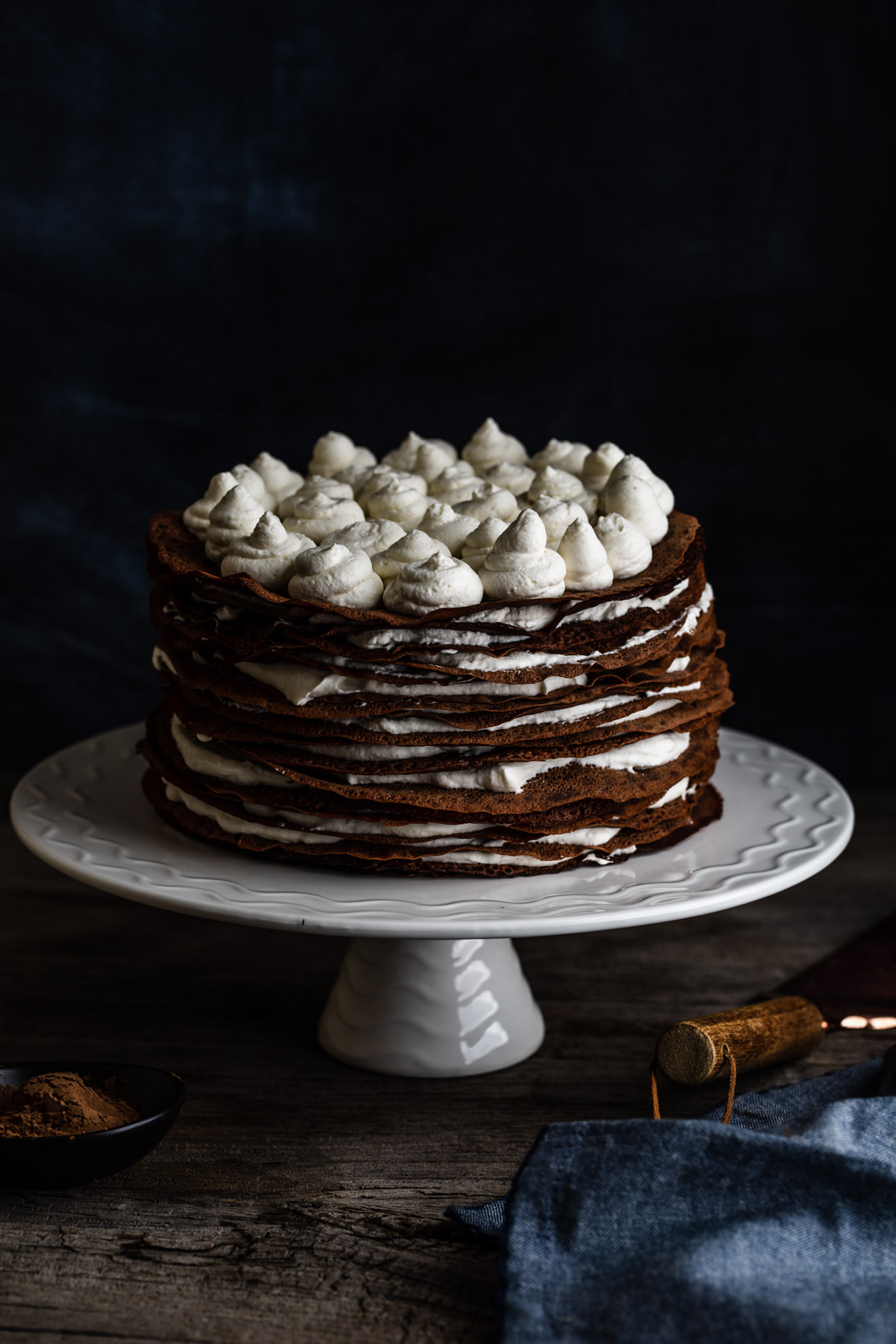 Chocolate Chestnut Mille Crepe Cake