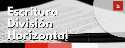 ¿En qué consiste la escritura de división horizontal?