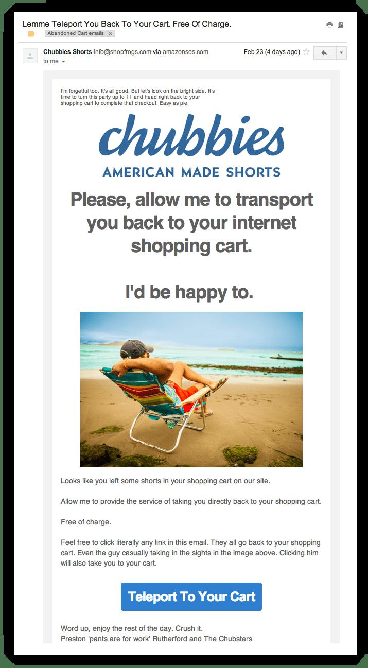Chubbies Ecommerce Email Marketing Sendlane