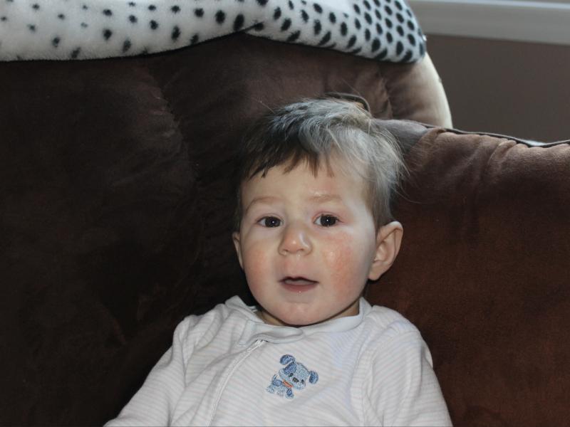 Photo of Sebastian as a baby.