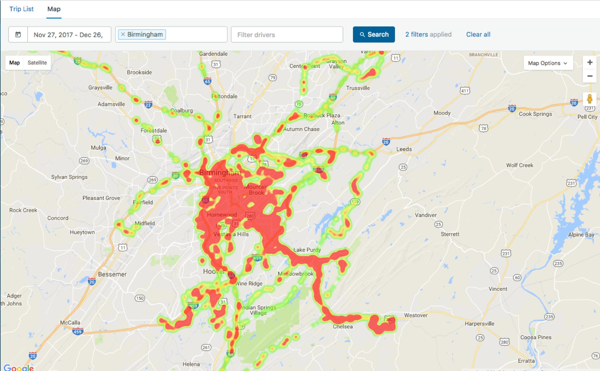 fleet tracking map