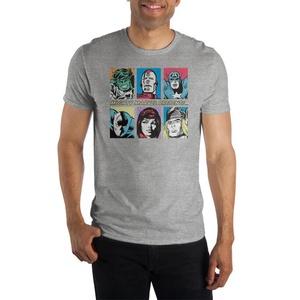 Marvel Classic Avengers Grey Short-Sleeve T-Shirt