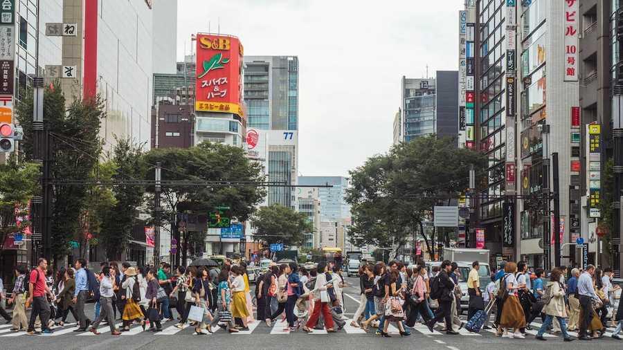 Shopping Street in Ginza
