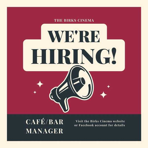 Join the Birks Cinema team!  We're looking for a motivated, entrepreneurial Café Bar Manager. Great opportunity to help define  and drive the new vision of the catering side of the Birks. If you, or someone you know, would be a great fit head over to BirksCinema.co.uk/careers for more details and to apply.