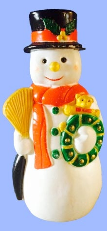 Snowman With Green Wreath photo