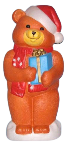 Brown Teddy Bear With Presents photo