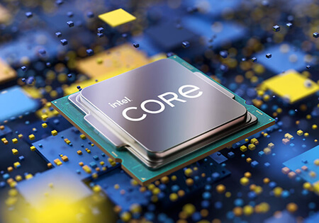 Promotional image of an Intel Core processor