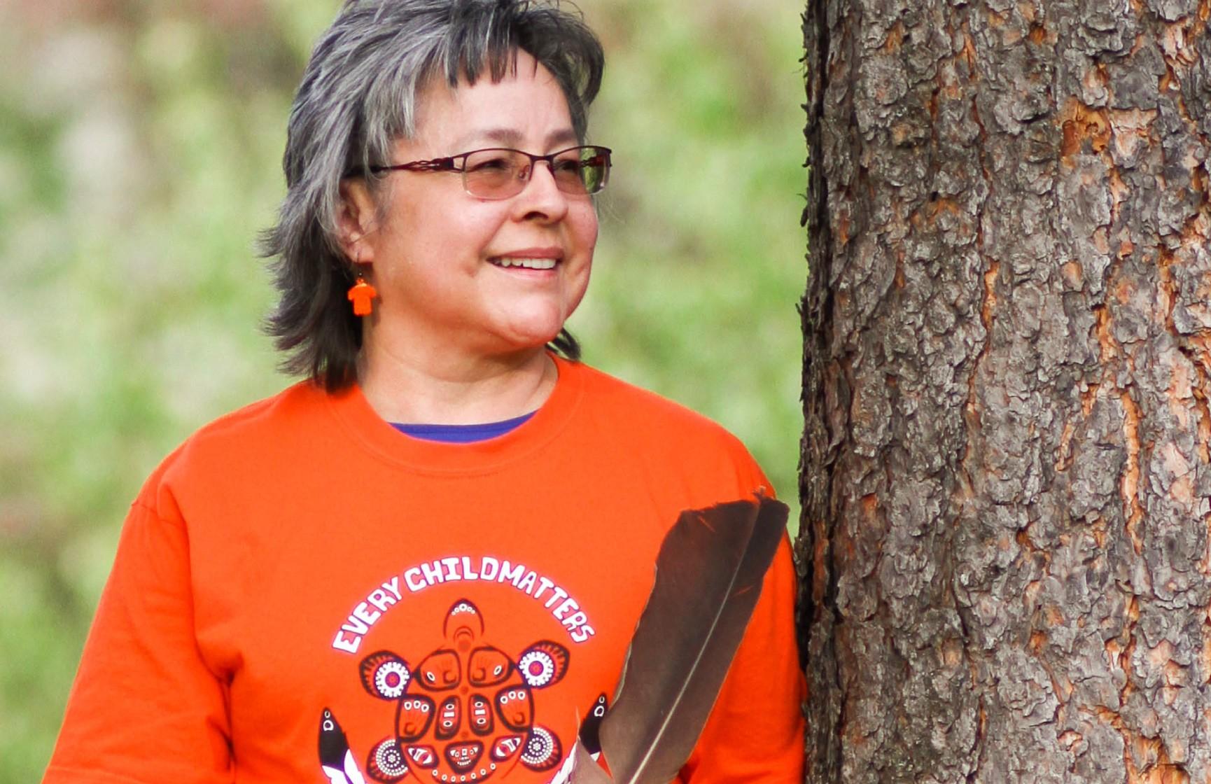 Phyllis Webstad, residential school survivor and founder of Orange Shirt Day