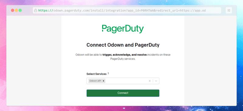Add a new PagerDuty channel