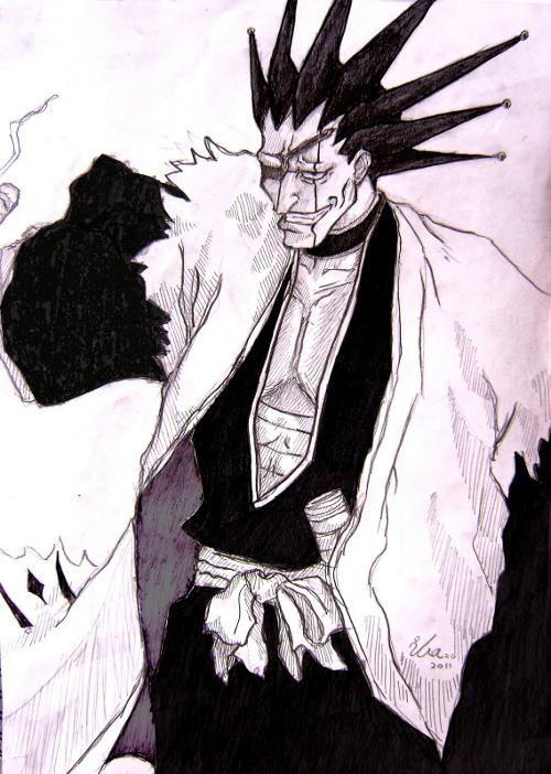Kenpachi Smiling Sketch