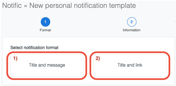 alt Personal notification template selection
