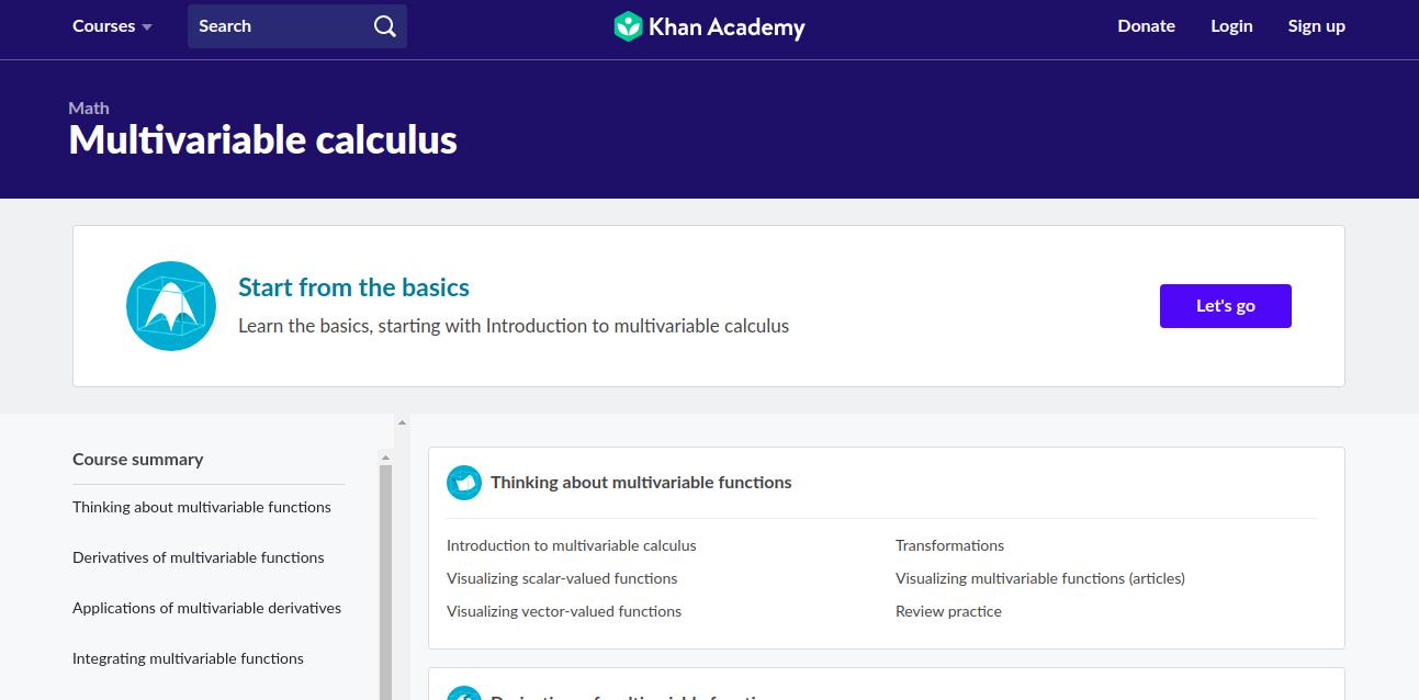 Multivariable calculus - Khan