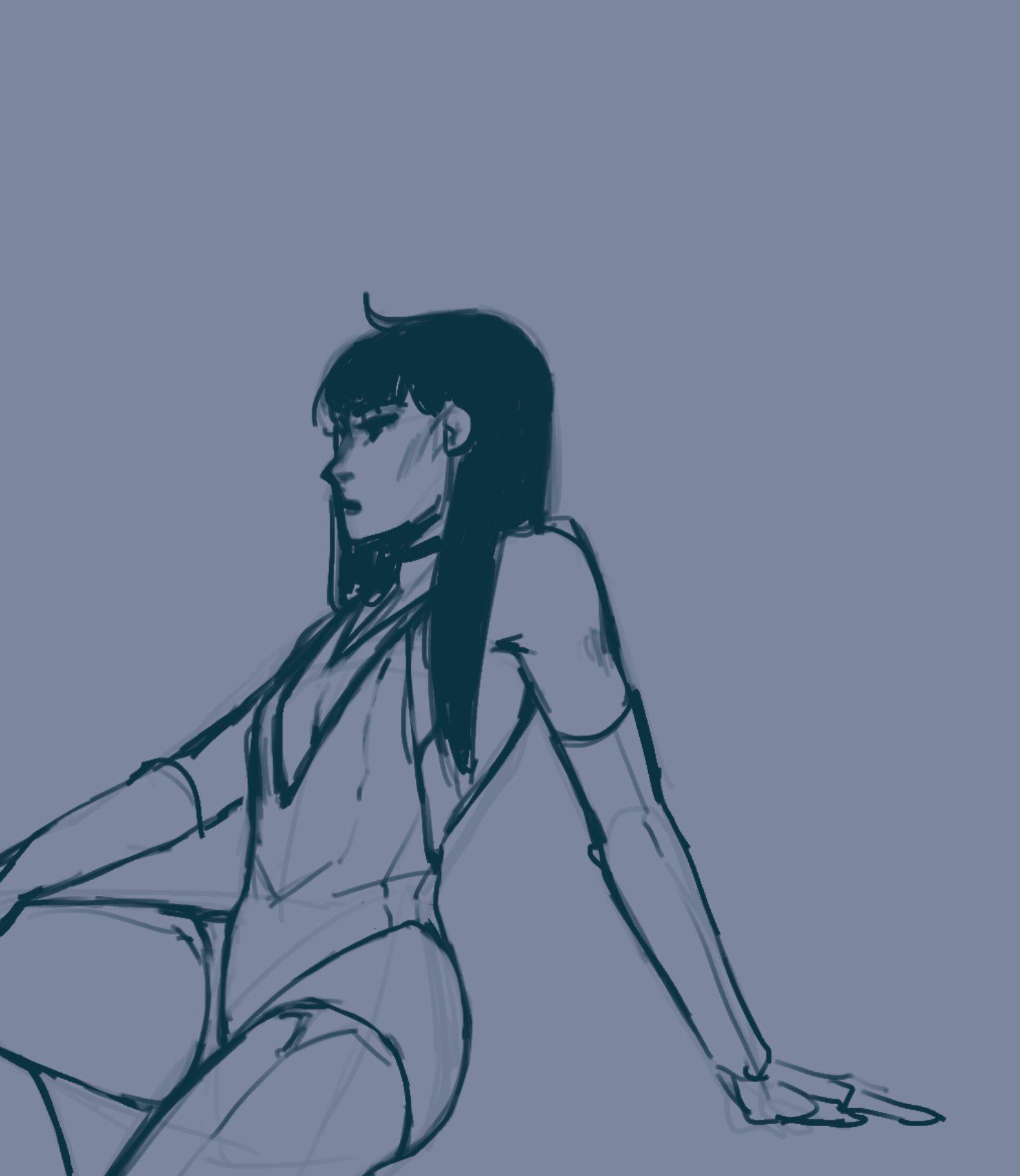 Girl sitting in leotard.