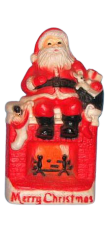 Santa on Fireplace photo
