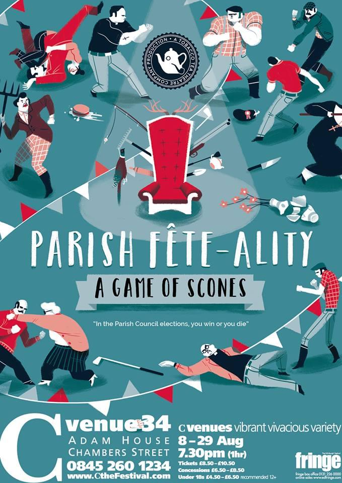 Poster for Parish Fête-ality: A Game of Scones, by Christopher Cutting