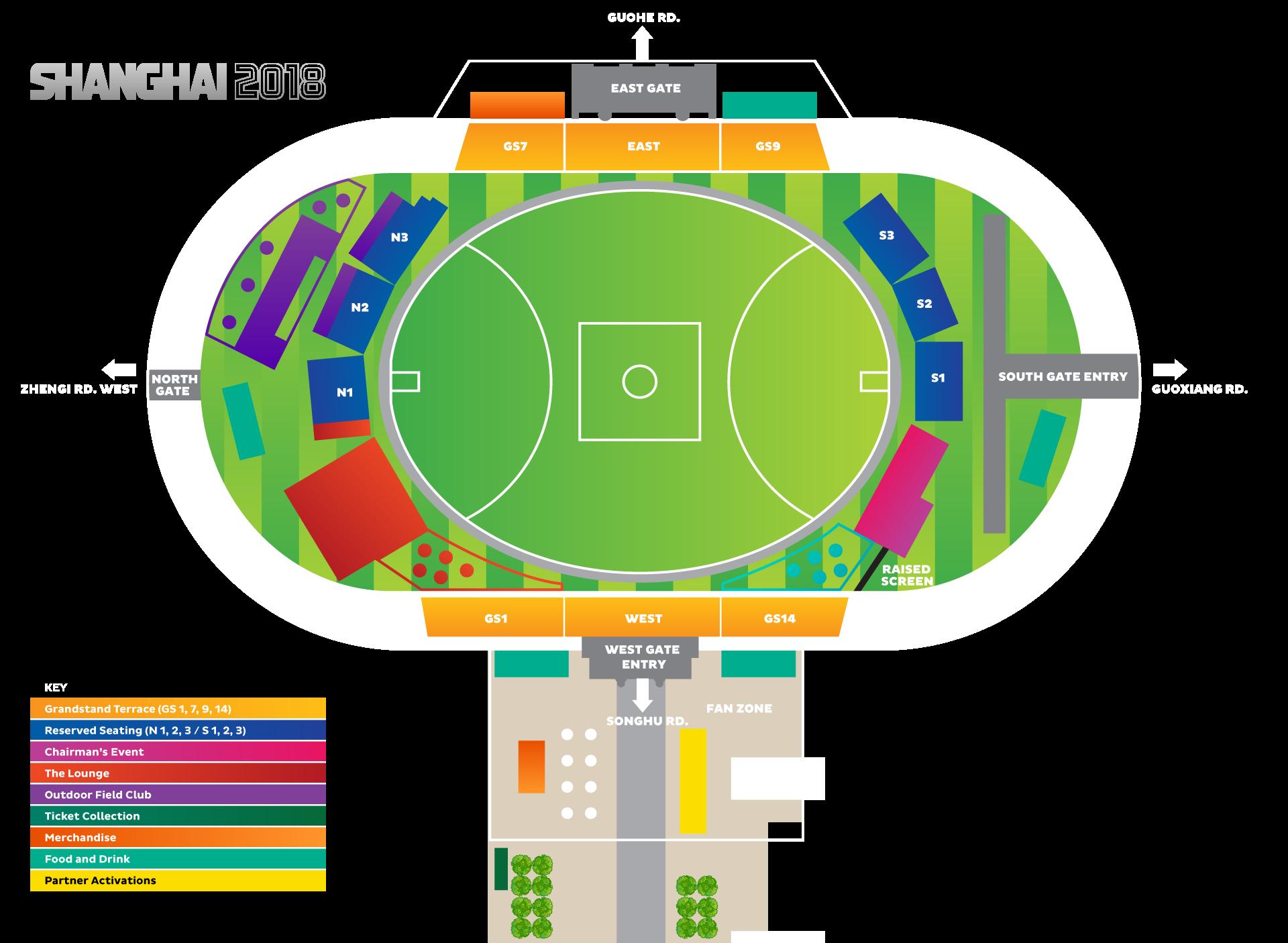 Jiangwang Stadium Map