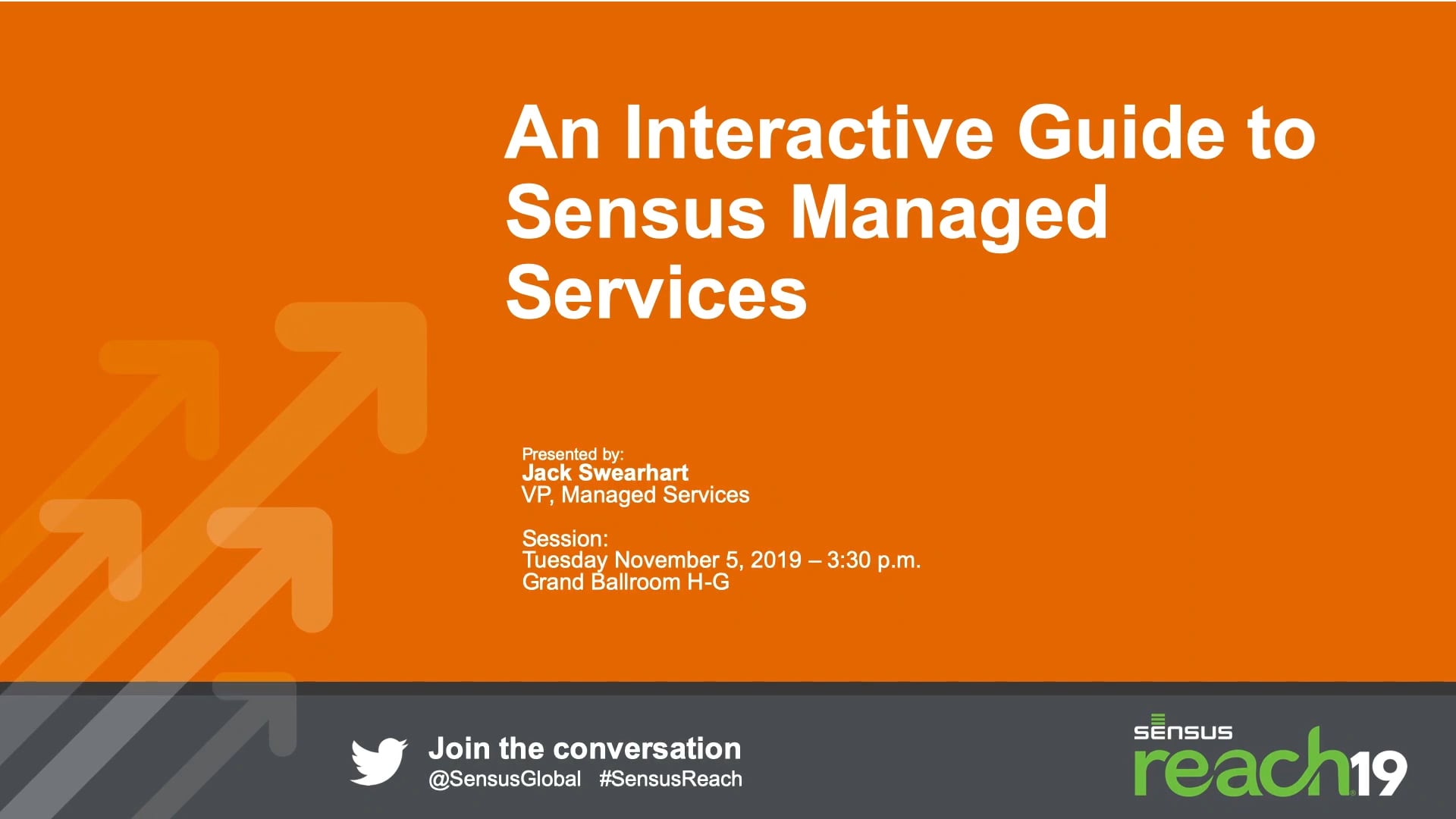 An Interactive Guide to Sensus Managed Services