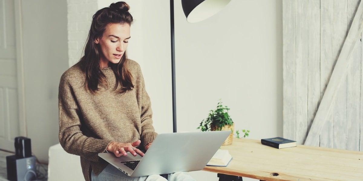 A full-stack web developer doing home office