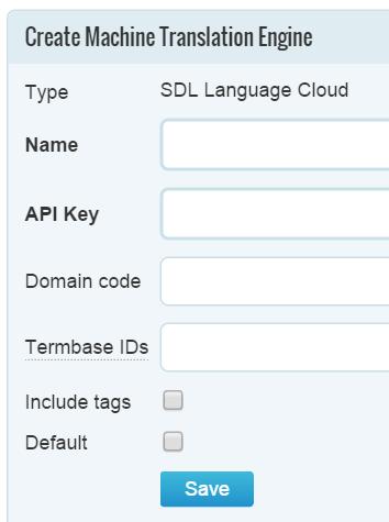 SDL Language Cloud in Memsource