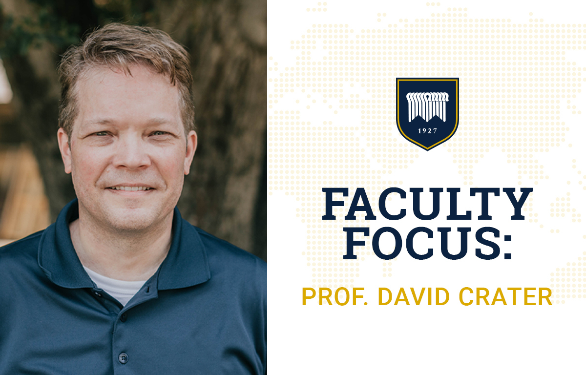 Faculty Focus: David Crater image