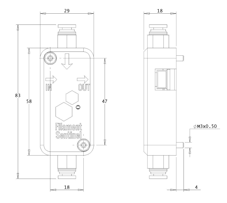 Sentinel™ Filament Detector Drawings