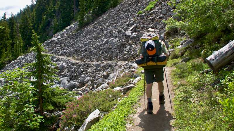 Crossing scree on the PCT