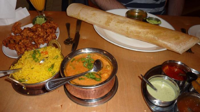 Sagar masala dosa and kurma