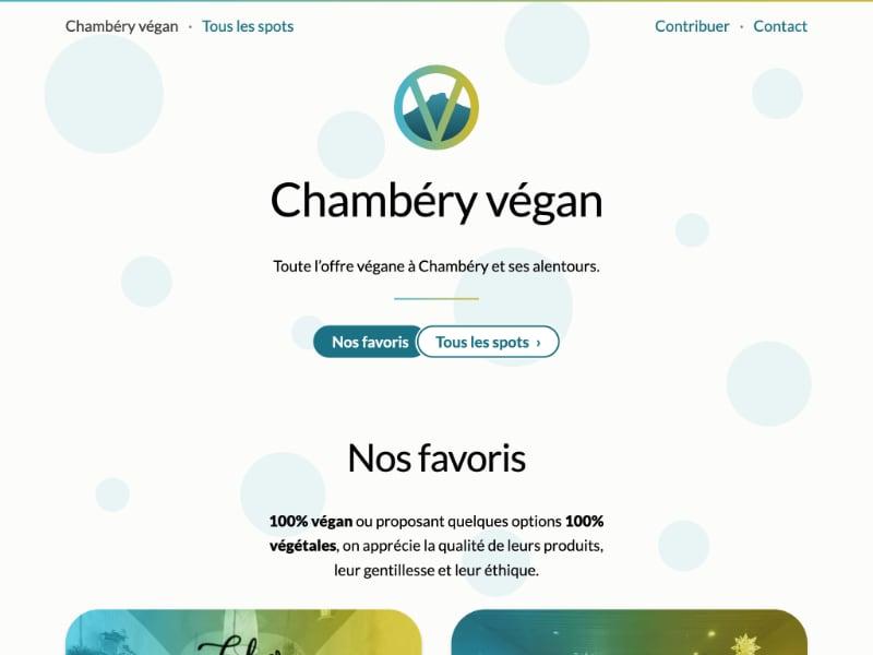 Capture d'écran du site chambery-vegan.fr