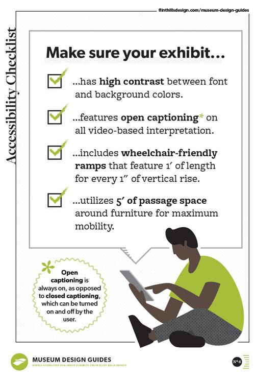 museum design guides - accessibility checklist